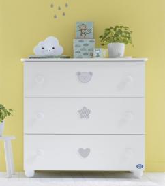 Συρταριέρα PALI Birillo, χρώμα λευκό